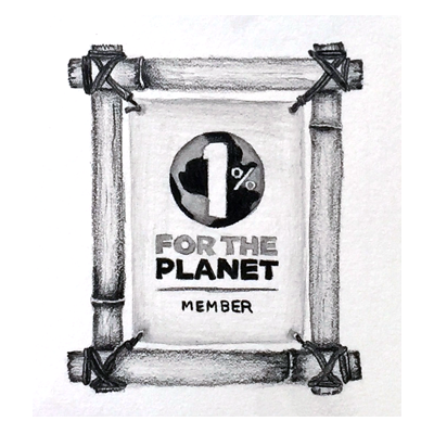 1% For The Planet Logo Pencil Illustration
