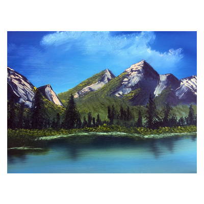 Mountain Range Acrylic Painting