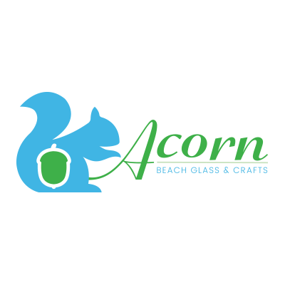 Acorn Beach Glass Logo Design