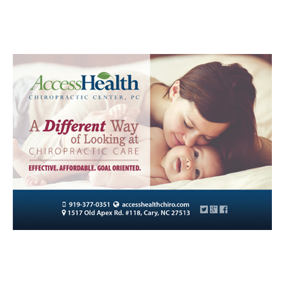 AccessHealth Chiropractic Post Card Design for Mothers