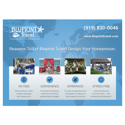 Bluprint Travel Postcard Design