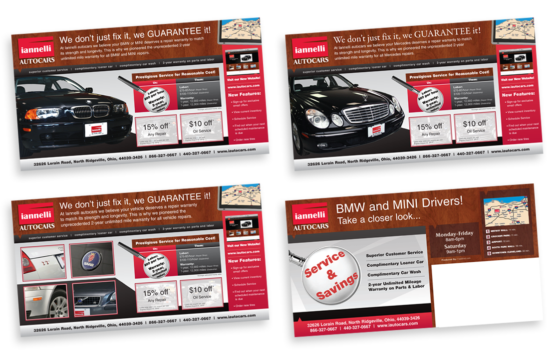 Iannelli Automotive Postcard Design