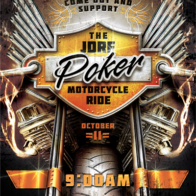 JDRF Motorcycle Ride Flyer Design