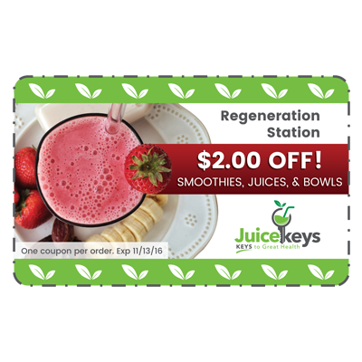 Juicekeys Coupon Graphic Design
