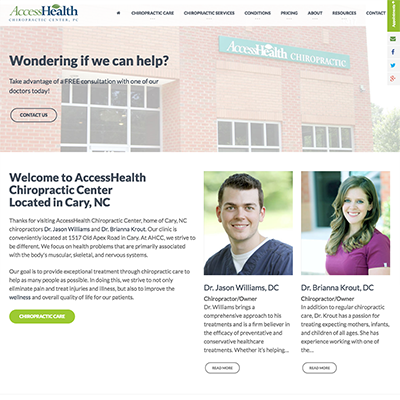 AccessHealth Chiropractic Center Website Design