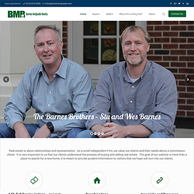 Barnes McQuade Realty Website Design