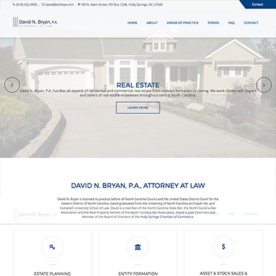 David N. Bryan Attorney at Law Website Design