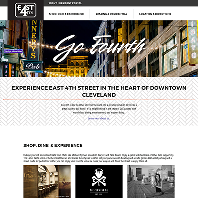 East 4th Street Cleveland Website Development