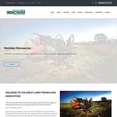 Great Lakes Trenchless Association Website Design
