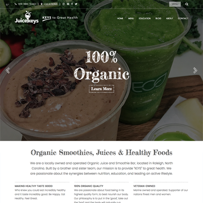 Juicekeys Website Design