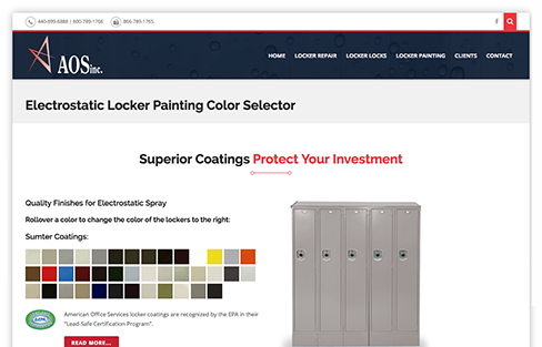 American Office Services - Locker Painting & Repair Website Design Thumbnail 1