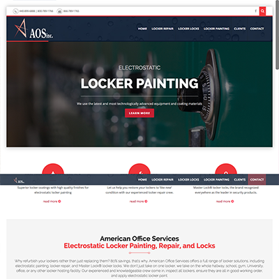 American Office Services - Locker Painting & Repair Website Design