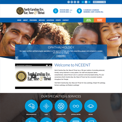 North Carolina Eye, Ear, Nose & Throat Website Design