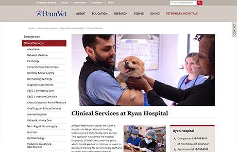 University of Pennsylvania, School of Veterinary Medicine Screen Shot 2