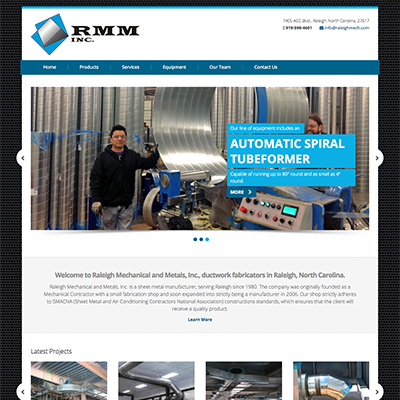 Raleigh Mechanical and Metals Website Design