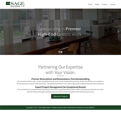 Sage Builders Website Design